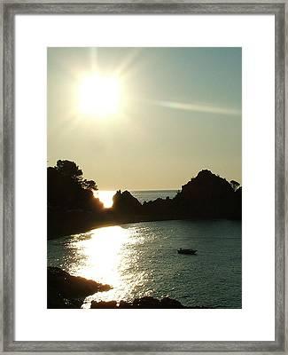 Cove At Night Framed Print by John Bradburn
