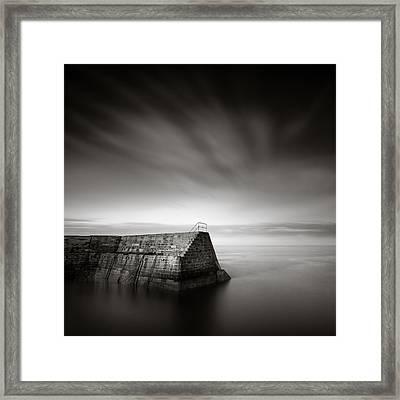 Cove Breakwater Framed Print