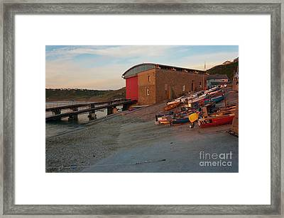 Cove Fishing Fleet At Sunset Framed Print by Terri Waters