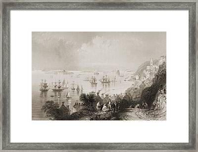 Cove Harbour, County Cork, Ireland Framed Print by Vintage Design Pics