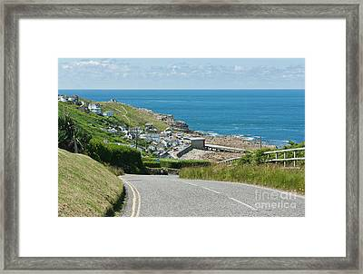 Cove Hill Sennen Cove Framed Print by Terri Waters