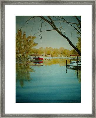Cove In Early Spring Framed Print by Shirley Braithwaite Hunt