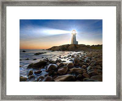 Cove Light Framed Print by James Charles
