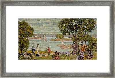 Cove  Maine Framed Print by Maurice Brazil Prendergast