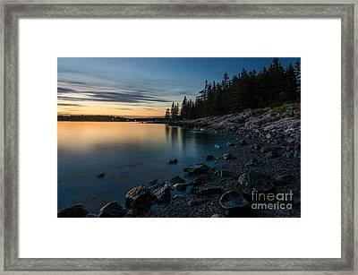 Cove Framed Print by Paul Noble