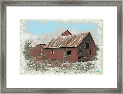 Coventry Barn Framed Print by John Selmer Sr