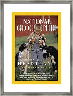 Cover Of The May, 2004 Issue Framed Print by Jim Richardson