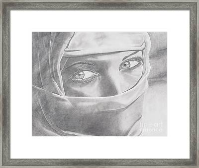 Covered Beauty Framed Print