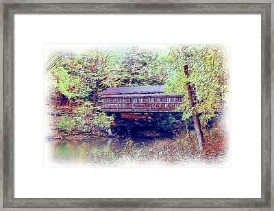 Covered Bridge 2015 Framed Print