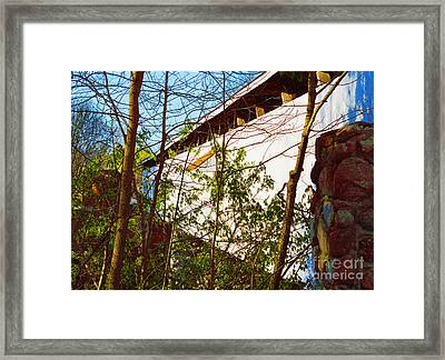 Covered Bridge Framed Print by Alys Caviness-Gober