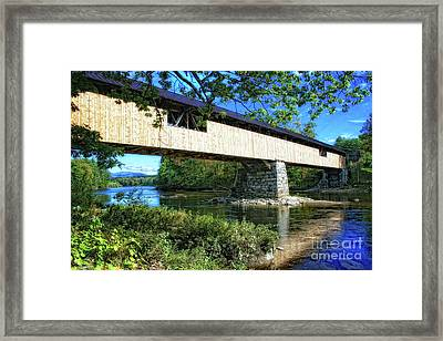 Framed Print featuring the photograph Covered Bridge by Gina Cormier