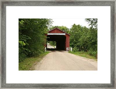 Covered Bridge Framed Print by Gregory Jeffries
