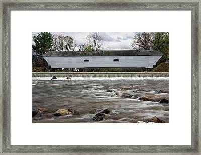 Covered Bridge In March Framed Print