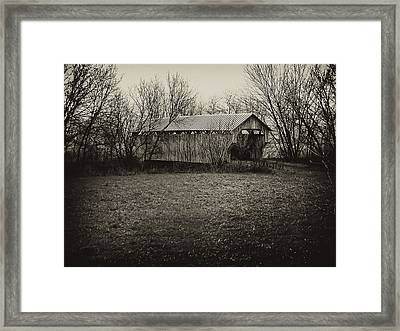 Covered Bridge In Upstate New York Framed Print by Bill Cannon