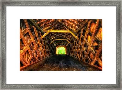 Covered Bridge Interior Framed Print