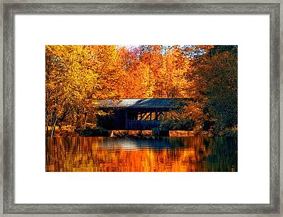 Covered Bridge Framed Print by Joann Vitali