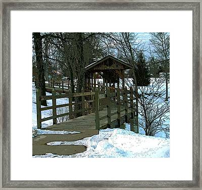 Covered Bridge Framed Print by Julie Grace