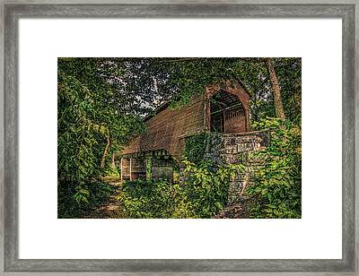 Framed Print featuring the photograph Covered Bridge by Lewis Mann