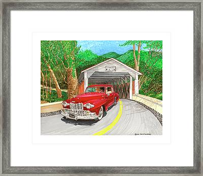 Covered Bridge Lincoln Framed Print by Jack Pumphrey