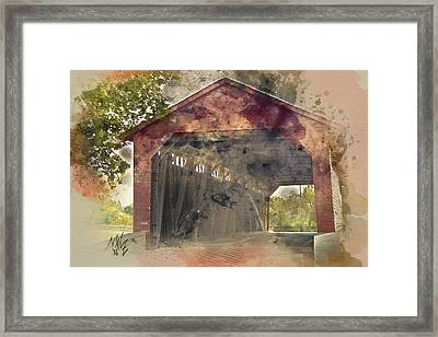 Utica Mills Covered Bridge Framed Print