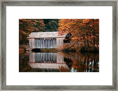 Covered Bridge Osv Framed Print