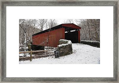 Covered Bridge Over The Wissahickon Creek Framed Print by Bill Cannon