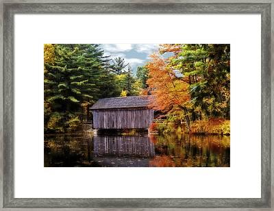 Covered Bridge Framed Print by Pat Carosone
