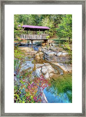 Covered Bridge, Ponca Arkansas, Buffalo National River Area Framed Print by Gregory Ballos