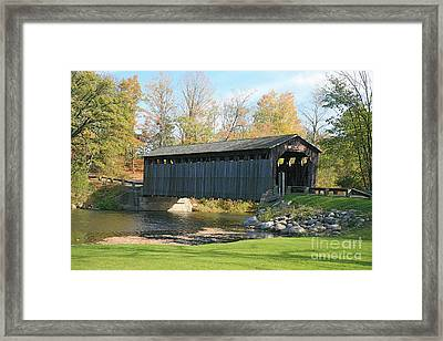 Covered Bridge Framed Print by Robert Pearson