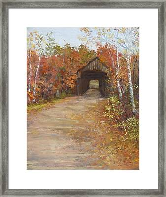 Covered Bridge  Southern Nh Framed Print by Jack Skinner