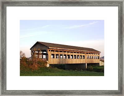 Covered Bridge To Rockwood Framed Print by Bruce Bley