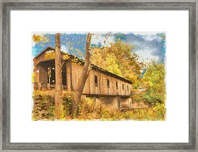 Covered Bridge Usa Framed Print by Anthony Caruso