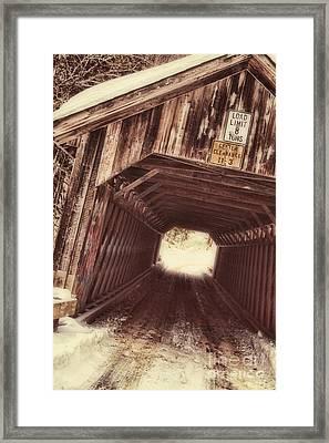 Covered Bridge Vermont Framed Print