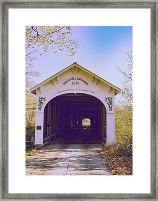 Covered Bridge Framed Print by William Morris