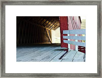 Covered Bridge, Winterset, Iowa Framed Print by Wilma Birdwell