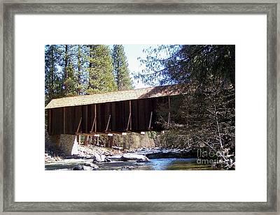 Covered Bridge Yosemite Framed Print by Marjorie Imbeau