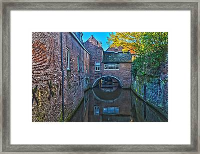 Covered Canal In Den Bosch Framed Print