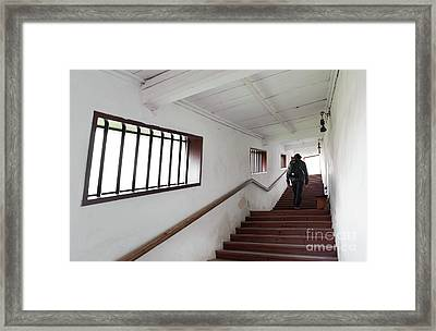 Covered Stairs Leading To Franciscan Monastery Framed Print by Arletta Cwalina