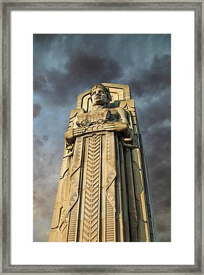 Covered Wagon Guardian On Hope Memorial Bridge Framed Print