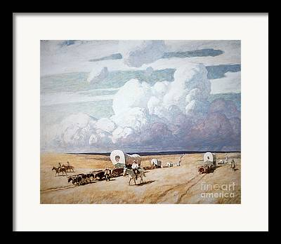 Storm Clouds Paintings Framed Prints