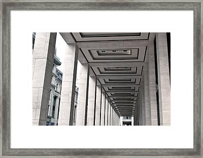 Covered Walkway Framed Print by Tom Gowanlock