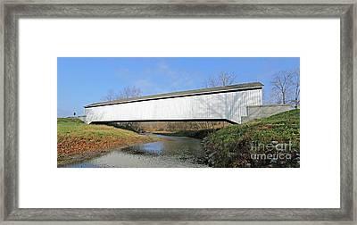 Indiana Covered Bridge Side Framed Print