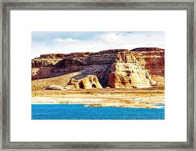 Coves On Shore Of Lake Powell Framed Print