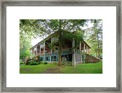 Framed Print featuring the photograph Covewood Lodge On Big Moose Lake by David Patterson