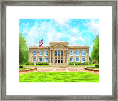 Framed Print featuring the mixed media Covington County Courthouse - Andalusia Alabama by Mark Tisdale