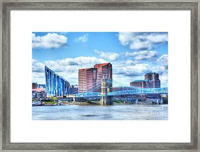 Covington Kentucky Skyline Framed Print by Mel Steinhauer
