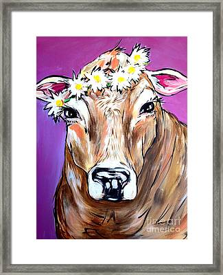 Cow Framed Print by Abbi Kay