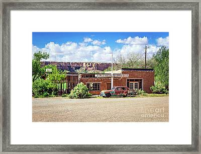 Cow Canyon Trading Post Framed Print by Joan McCool