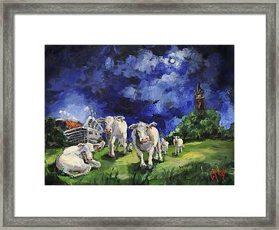 Cow College Auburn University Framed Print by Carole Foret