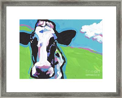 Cow Cow Framed Print by Lea S
